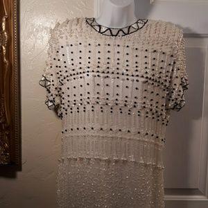 Vintage NITE Beaded Silk Dress